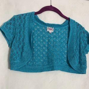 Justice knit cap sleeved bolero